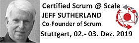 Certified Scrum at Scale Seminar mit dem Erfinder von Scrum Jeff Sutherland